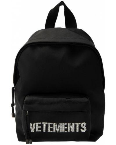 Czarny plecak kaskadowy Vetements