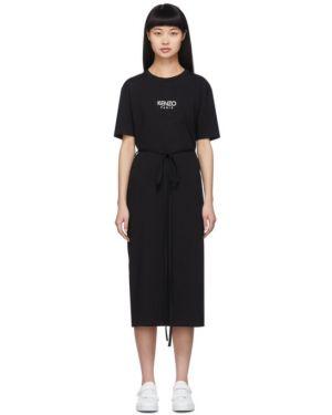 Платье с поясом вязаное платье-майка Kenzo