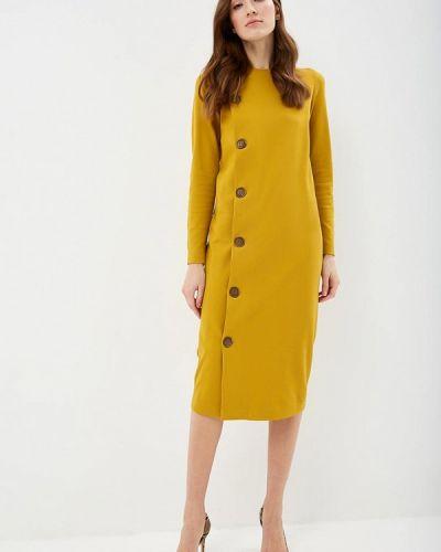 Платье осеннее желтый Elena Kulikova
