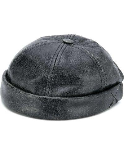 Czarna czapka skórzana Junya Watanabe