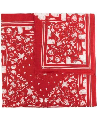 Biały szalik bawełniany z printem Ps Paul Smith
