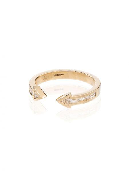 Желтое кольцо с бриллиантом Lizzie Mandler Fine Jewelry