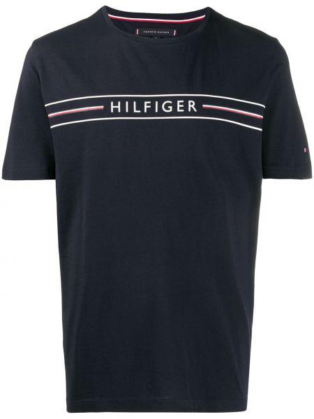 Koszula krótkie z krótkim rękawem w paski z logo Tommy Hilfiger