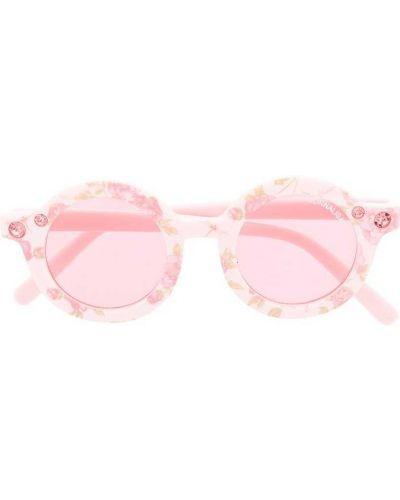 Прямые розовые солнцезащитные очки круглые Monnalisa