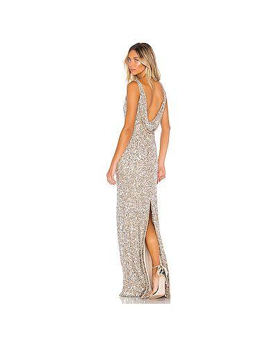 Вечернее платье с драпировкой серебряный Parker Black
