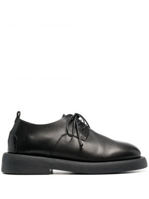 Кожаные черные оксфорды на шнурках Marsèll