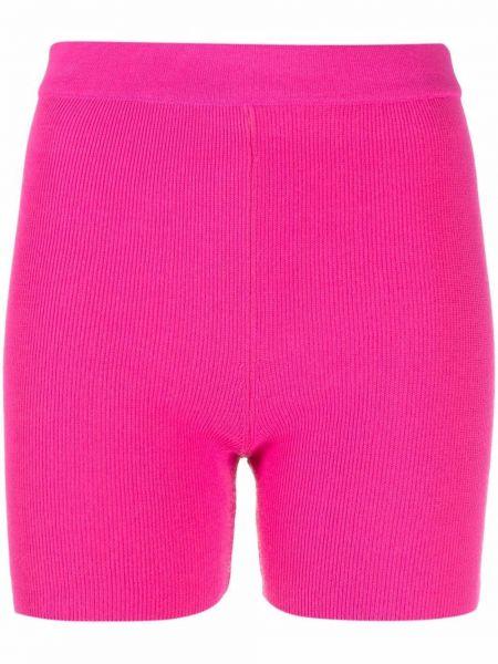 Розовые трикотажные шорты Jacquemus
