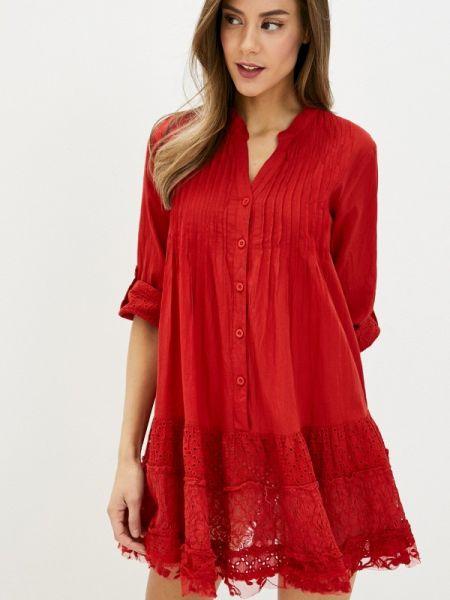 Платье прямое красный Fresh Cotton