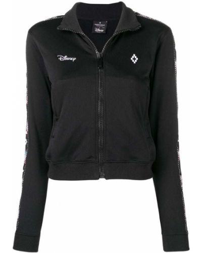 Спортивная куртка черная с вышивкой Marcelo Burlon. County Of Milan