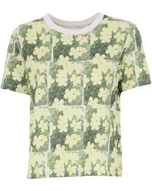 Zielony t-shirt bawełniany krótki rękaw 1. Phillip Lim
