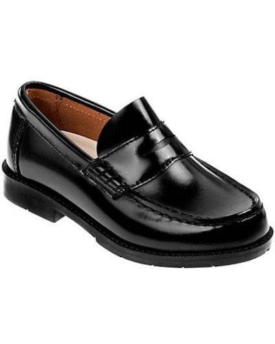 Czarne loafers skorzane koronkowe Academie Gear