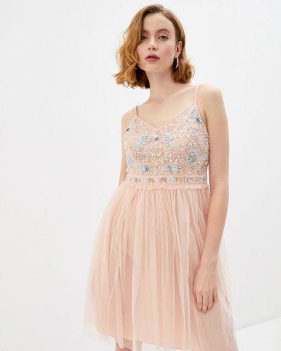 Розовое вечернее платье French Connection