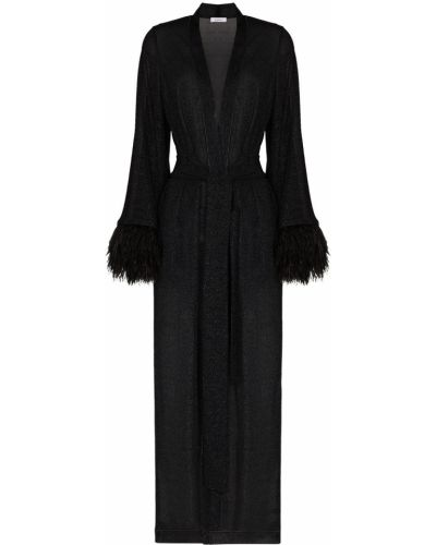 Czarny sweter z dekoltem w serek Oséree