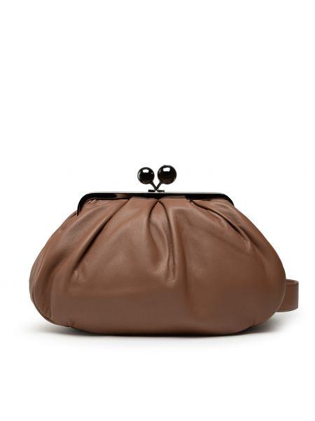 Brązowa klasyczna torebka Weekend Max Mara