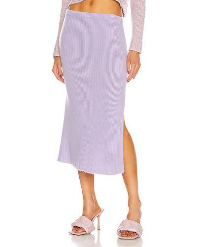 Кашемировая фиолетовая юбка миди на резинке The Elder Statesman