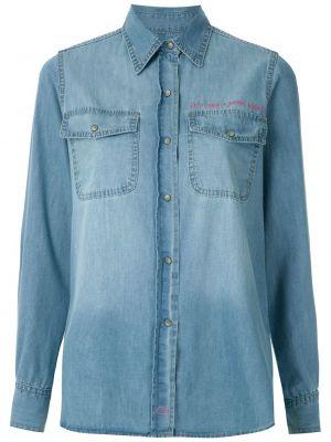 Хлопковые джинсы - синие Eva