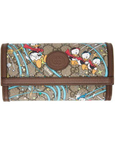 Czarny skórzany portfel z kieszeniami Gucci