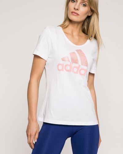 Футболка белая эластичный Adidas Performance