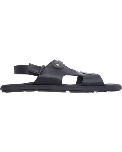 Черные кожаные сандалии Moschino