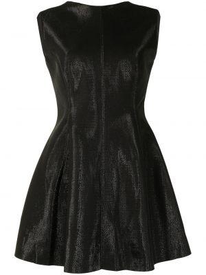 Czarna sukienka z jedwabiu bez rękawów Maticevski