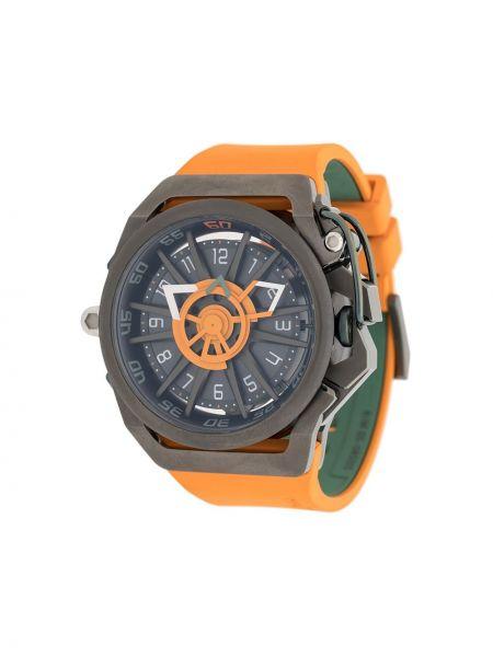 Zegarek szary pomarańczowy Mazzucato