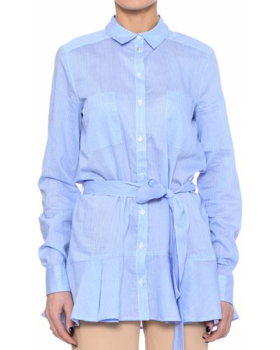 Голубая рубашка хлопковая Patrizia Pepe