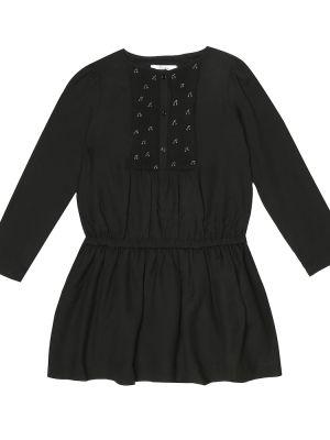 Черное платье из вискозы Bonpoint