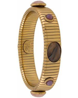 Желтый золотой браслет с камнями Gas Bijoux