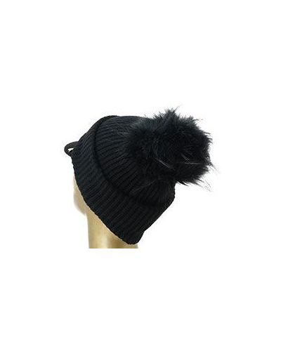 Черная шапка шерстяная Patrizia Pepe