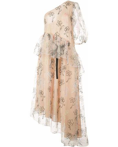 Платье из парчи с открытыми плечами Sandy Liang