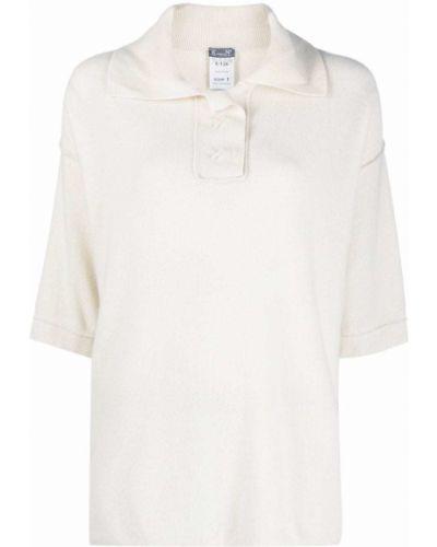 Белая рубашка с короткими рукавами с воротником Kristensen Du Nord