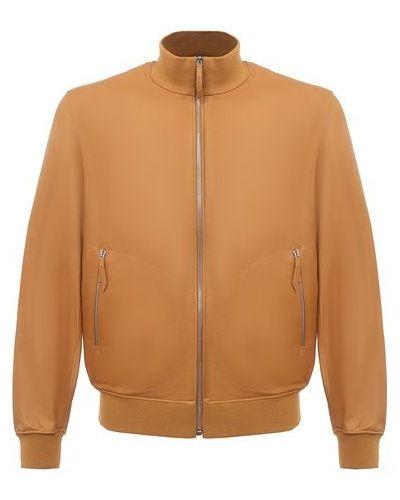 Кожаная куртка - бежевая Andrea Campagna