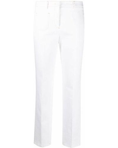 Ватные хлопковые белые джинсы Incotex