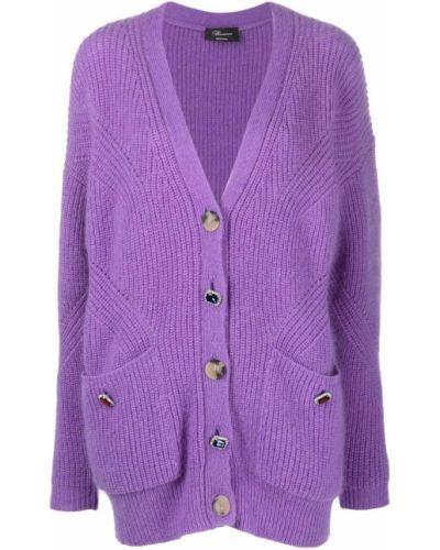 Фиолетовая шерстяная кардиган Blumarine