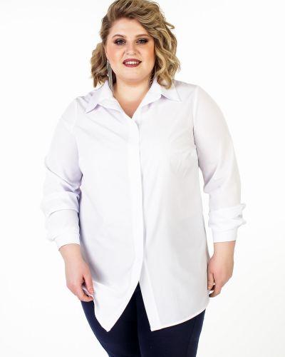 Блузка с воротником-стойкой приталенная Jetti-plus
