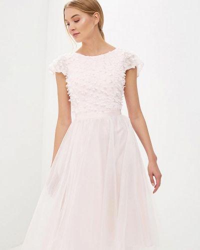 Розовое платье миди Chi Chi London