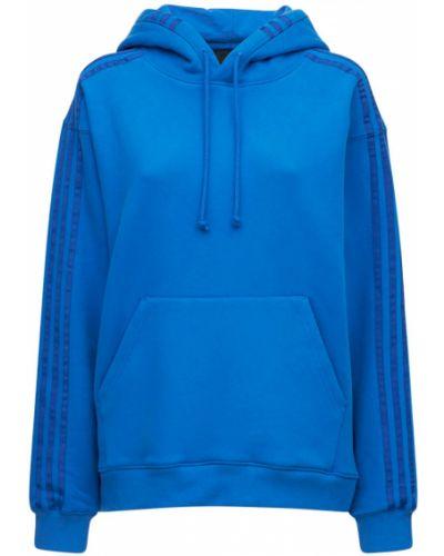 Синее худи с карманами Adidas X Ivy Park