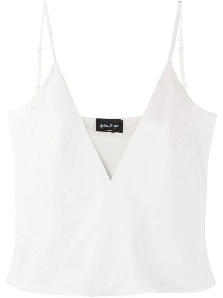 Тонкая блузка без рукавов с V-образным вырезом на бретелях из вискозы Andrea Ya'aqov