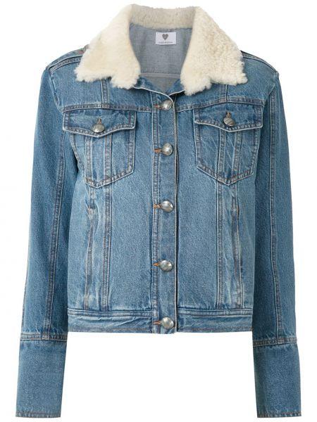 Хлопковая синяя куртка Andrea Bogosian