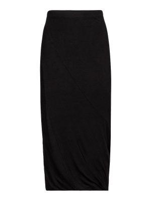 Бархатная черная юбка миди Velvet
