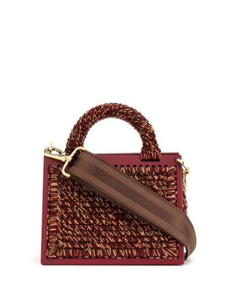 Вязаная красная маленькая сумка 0711