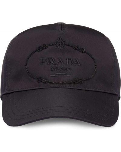 Czapka czarny z logo Prada