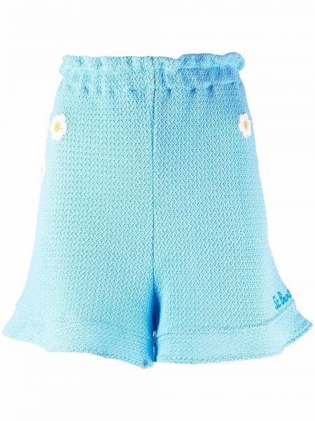Синие шорты с оборками с завышенной талией Mc2 Saint Barth