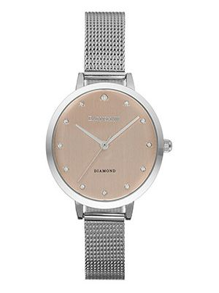 Кварцевые часы розовый с круглым циферблатом Earnshaw
