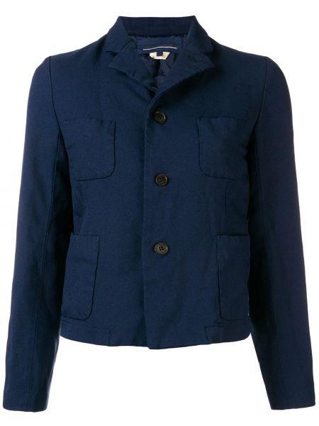 Прямой синий удлиненный пиджак на пуговицах Comme Des Garçons Girl