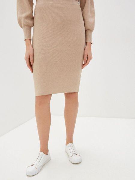 Облегающее платье бежевое весеннее Concept Club