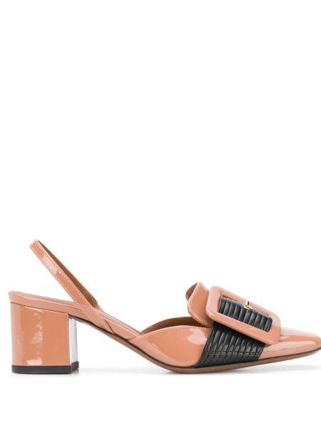 Коричневые туфли-лодочки на каблуке с квадратным носком L'autre Chose