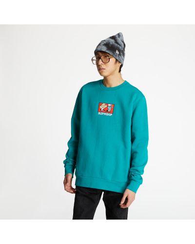 Markowe zielony sweter Ripndip