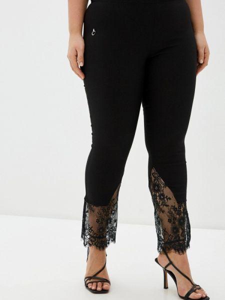 Черные брюки с воротником Over