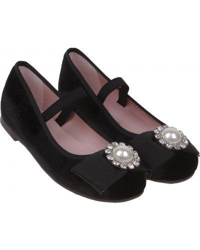 Черные школьные туфли Pretty Ballerinas